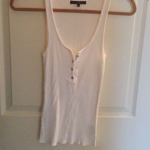 Kate Moss White Topshop Tank — size small